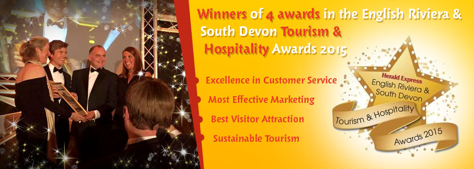 Winners of 4 awards in the English Riviera and South Devon Tourism and Hospitality Awards 2015