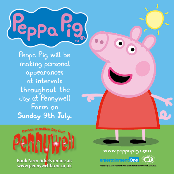 Pennywell farm welcomes peppa pig pennywell farm news peppa pig at pennywell stopboris Image collections