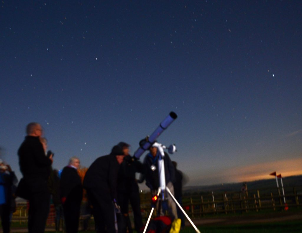 The sky at night over Pennywell Farm