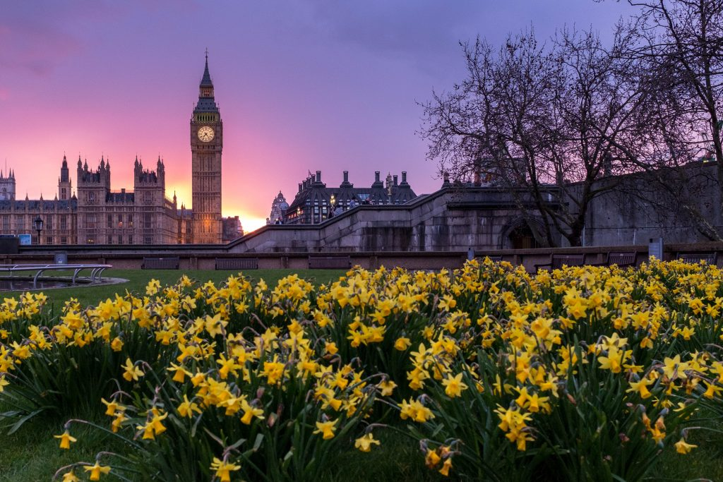 London, England in Springtime