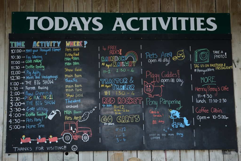 Activities at Pennywell Farm, Devon Tourist Attraction